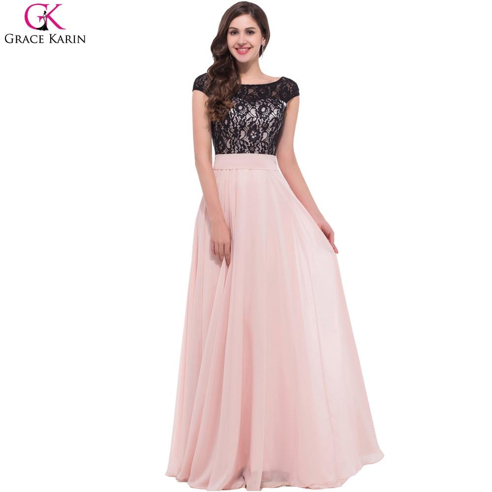 Black lace evening dress online