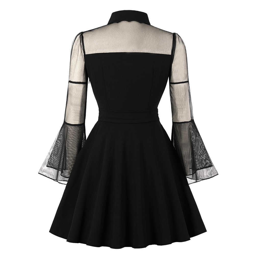 Vestidos cortos de malla de encaje de talla grande de primavera y verano para mujer