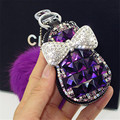 Fashion Cute Fur Keychain Pendant For Key bag Women Keychain Covers Zipper Key Case Bag Pouch Purse Men Key Holder