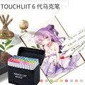 Marcador permanente de seis Generación de Alcohol Touchliit 30/40/60/80 Pro Graffiti para Anime/construcción/ropa/paisaje