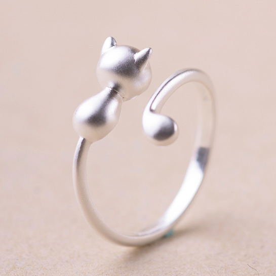 2016 free shipping 925 sterling silver cat rings for
