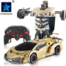 HOT 1:18 Transformation Remote Control Racing Car RC Vehicles Car Model Eletronic Toys Boys Gift