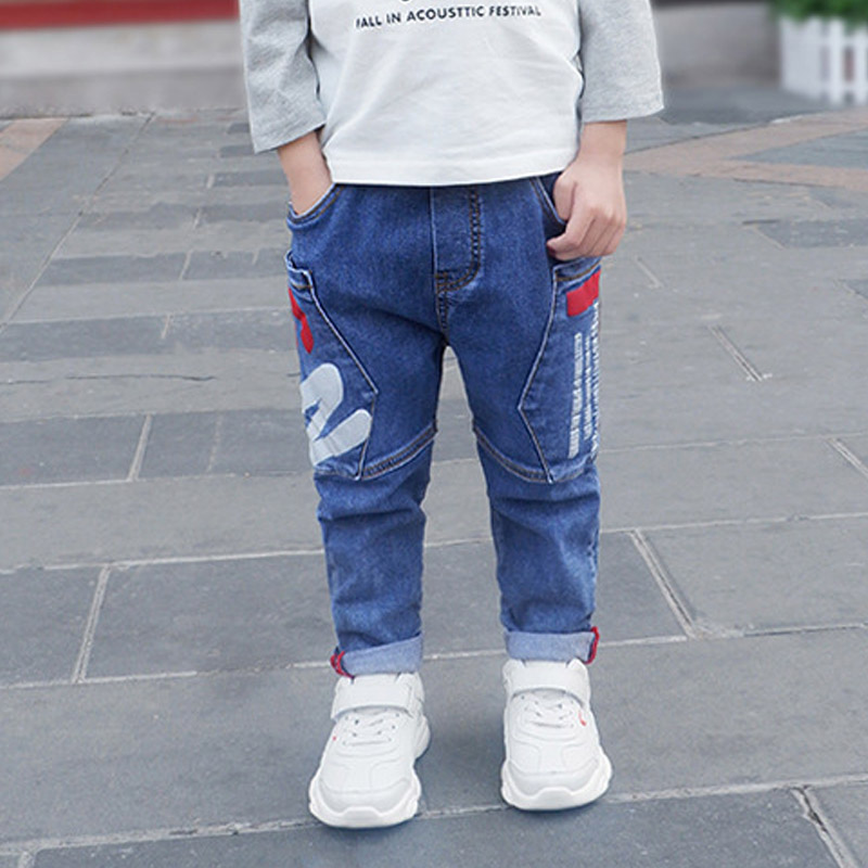 Baby boys jeans pants spring autumn kids boy toddler teenage denim Haren trousers fall Letter cotton 2 3T 4 5 6 7 8 9 10Y years(China)