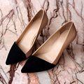 Piel de oveja de cuero genuino bombea los zapatos de mujer TG1357 superstar estilo europeo remiendo de la manera señora bombea los zapatos del partido femenino