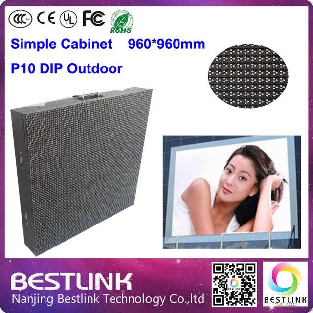 P10 из светодиодов открытый простой кабинет 960 * 960 мм с p10 из светодиодов dip из светодиодов модуль 1/4 сканирования для наружного из светодиодов экран