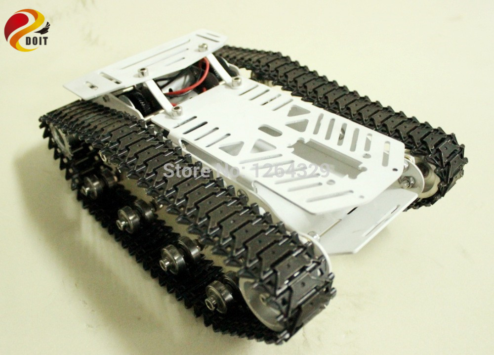 Full RC Metal Tank Car Chassis All-metal Structure Crawler Big Size Load Large Obstacle-surmounting Tank Chassis Tracked Vehicle big tank car chassis tracked car weight 8 5kg load carry more than 30kg obstacle surmounting robot parts for remote control