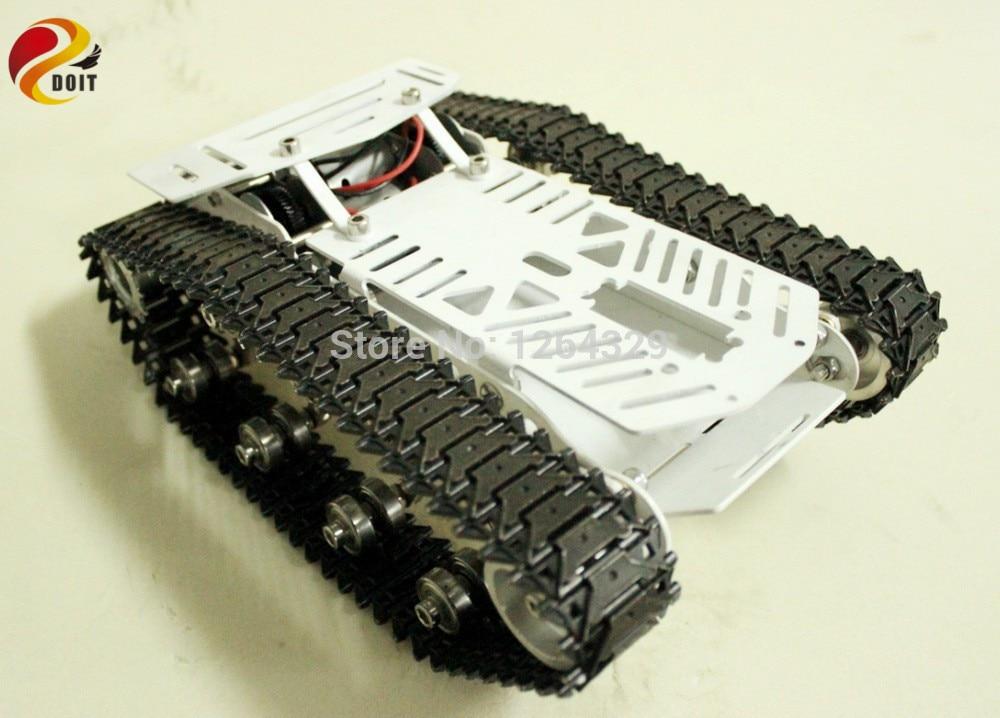 Fuld RC Metal Tank Bil Chassis All-Metal Struktur Crawler Big Size - Fjernstyret legetøj