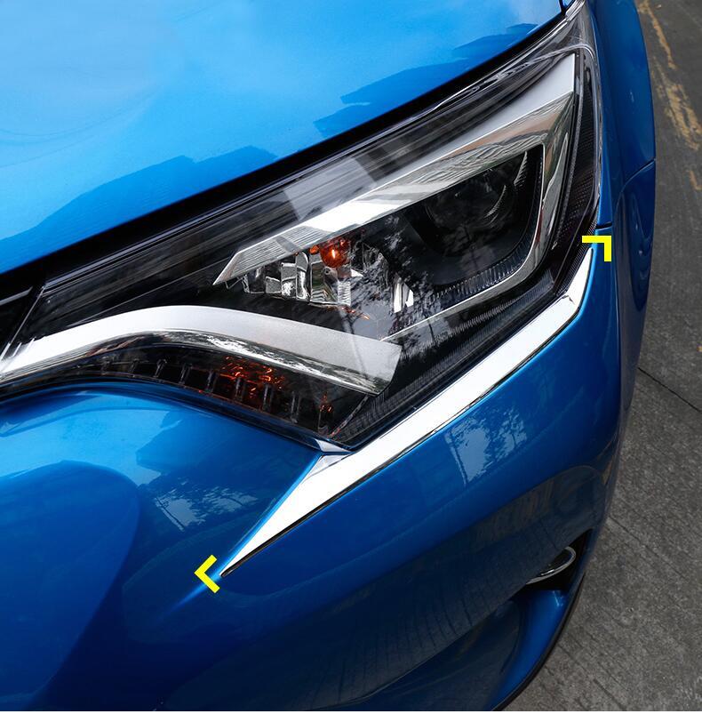 Accessori For Toyota RAV4 Rav 4 2016 2017 2018 ABS Anteriore faro della Luce Della Testa Kit Lampada Palpebre Copertura Trim