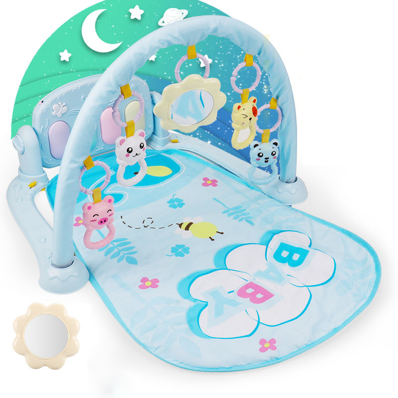 3 in 1 Baby Play Mat Baby Gym Toys Soft Lighting Rattles Musical Toys For Babies Educational Toys Play Piano Gym Baby Gifts | Happy Baby Mama