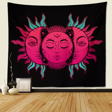 Tapestry Wall Hanging, sun and moon Psychedelic small with Art chakra Home Decorations Mandala tapestry