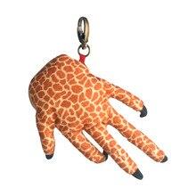 Plush Toys Dinosaur Paw Coin Purse Cool Stuffy Toy Children Kids Boys Girls Yellow Leopard Print Small Pendant