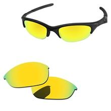 Polycarbonate-24K с золотистой зеркальной Сменные линзы для половина солнечные очки к куртке рамки UVA и UVB Защита