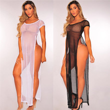 059c055b39 Women Sexy Beach Cover-up 2018 Hot Summer Transparent Swimsuit Covers up  Bathing Suit Beach