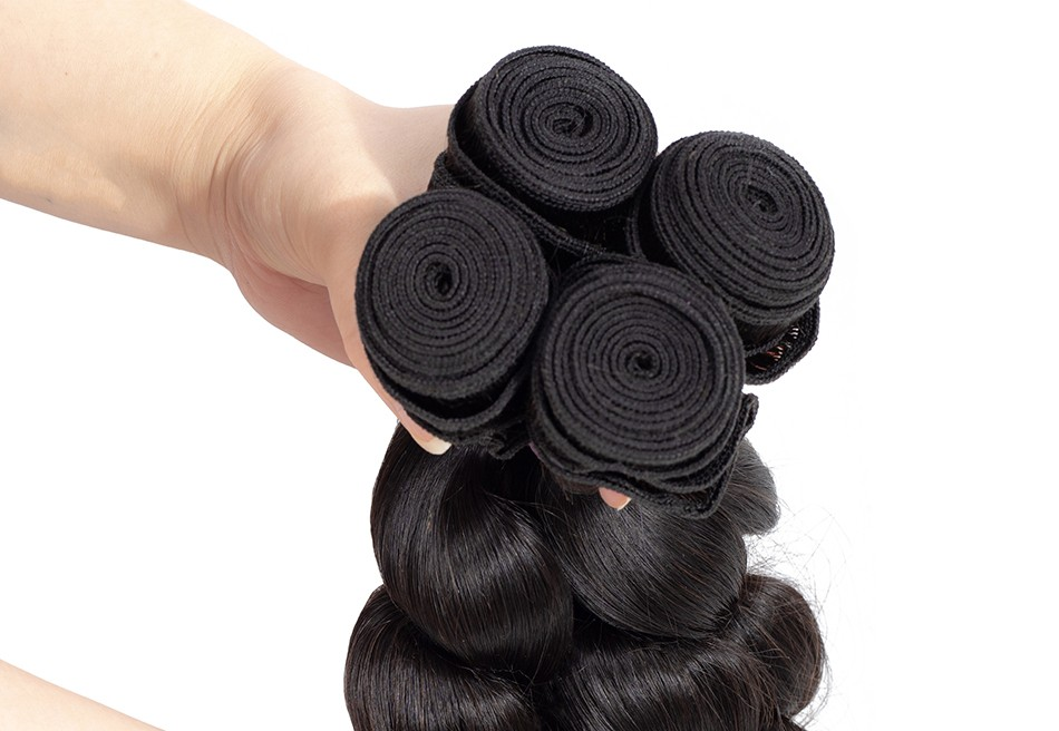 brazilian virgin hair loose wave hair extension