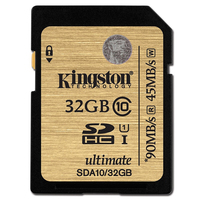 Kingston SDA10 32GB 64GB 128GB 512GB Class 10 UHS I SDHC SDXC Memory Card Up To