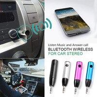 2017 3 Couleurs De Voiture Bluetooth Audio Musique Adaptateur Mains Libres Récepteur 3.5mm Jack Sans Fil Avec Mic Aux Câble Pour Haut-Parleur casque