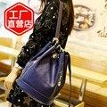 Натуральная кожа женщины рюкзак марка мешок второй слой из воловьей кожи рюкзак женская ведро сумки на ремне сумки для путешествий D134