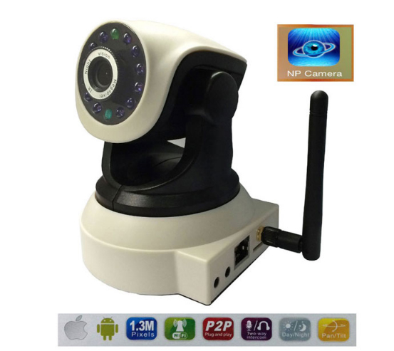 HD 1080P TF Card wireless IP Camera Built-in Microphone Support Two Way Intercom for smart home life with Pan/Tilt 360/90