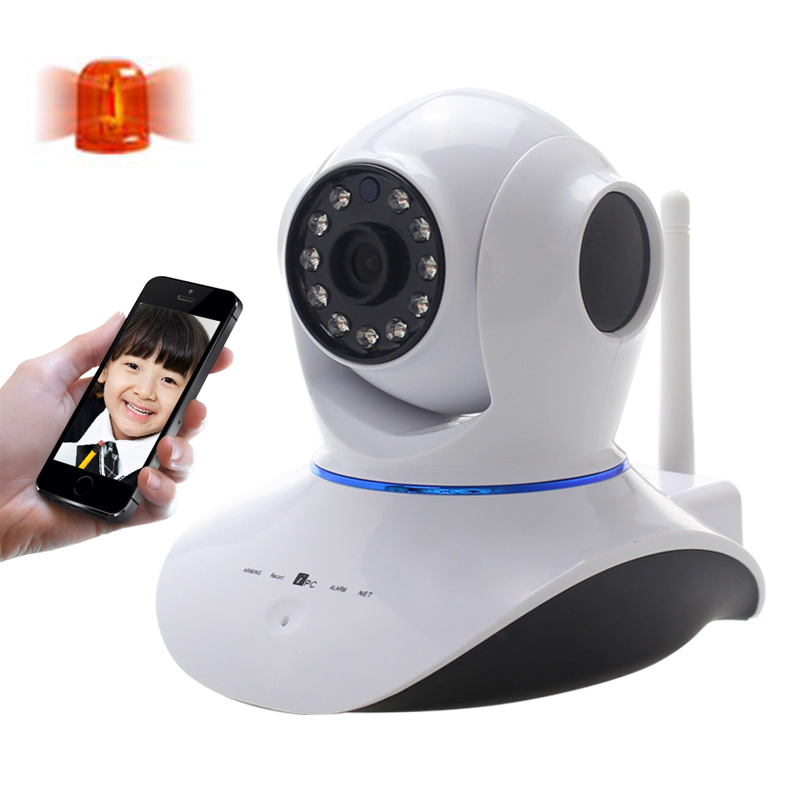 Upgrade High quality wireless 720P HD WiFi IP Network Wireless Webcam Home Security Camera Surveillance PnP P2P AP Pan Tilt IR high quality wireless pan tilt 720p security network cctv ip camera wifi webcam with different accessories