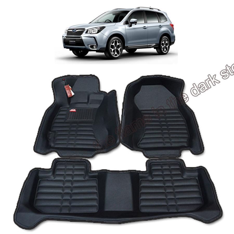 free shipping leather car floor mat carpet rug for subaru forester 4th generation SJ 2012 2013 2014 2015 2016 2017 все цены