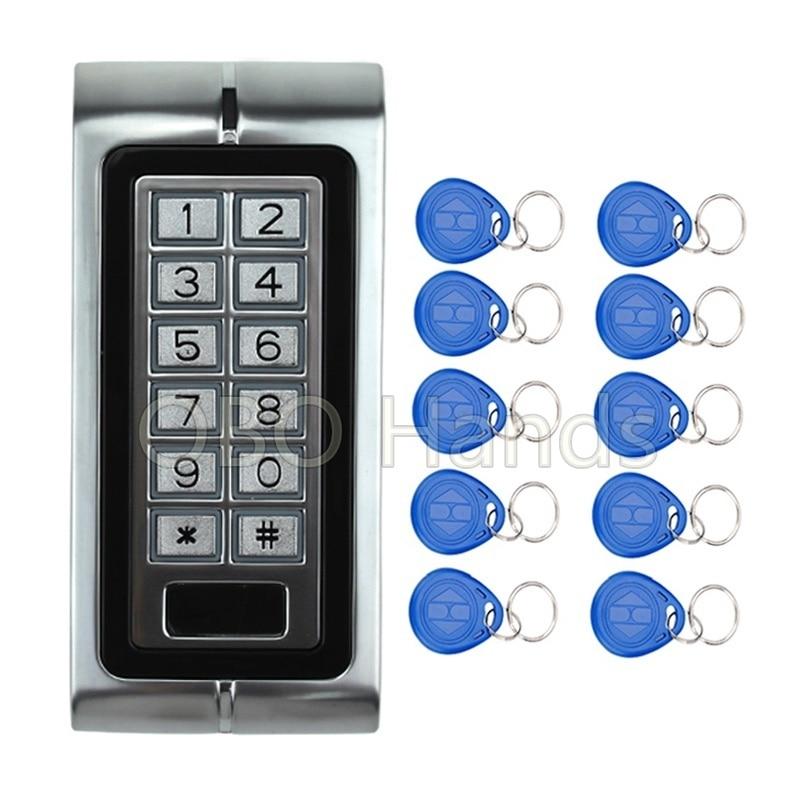 Metal  RFID card reader keypad for Access Control System K2 Model+10 pcs RFID Keyfobs ban mustafa and najla aldabagh building an ontology based access control model for multi agent system
