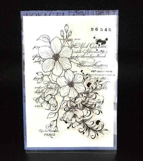 פרח שקוף ברור סיליקון חותמת/חותם עבור DIY רעיונות/אלבום תמונות דקורטיבי ברור חותמת A720