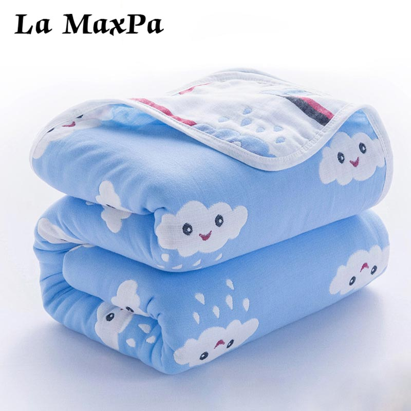 Winter Six Layers Of Gauze Baby Blanket Newborn Soft Cotton Baby Swaddle Warp Blankets Baby Bedding Stroller Cover Blanket
