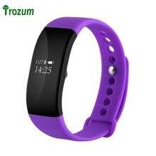 Trozum v66 смарт браслет монитор сердечного ритма bluetooth 4.0 спорт шагомер ip68 водонепроницаемый smart watch браслет для ios android