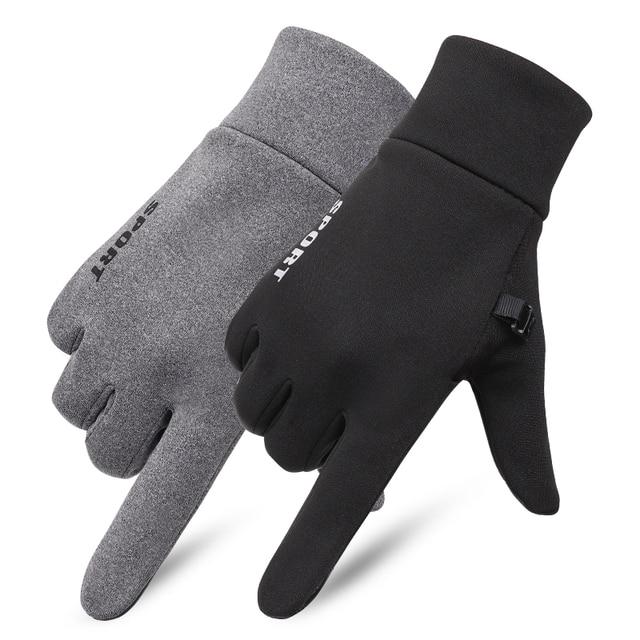 SHOUHOU Männer Herbst Winter Warme Futter Handschuhe Touch Bildschirm Beweis Wasser Handschuhe Reiten Radfahren Reisen Handschuhe