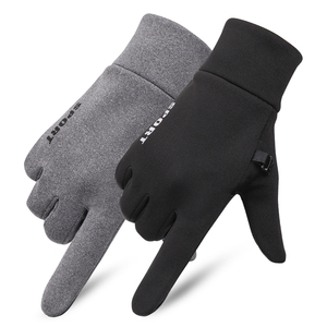 Image 1 - SHOUHOU Men Autumn Winter Warm Lining Gloves Touch Screen Proof Water Gloves Riding Cycling Traveling Gloves
