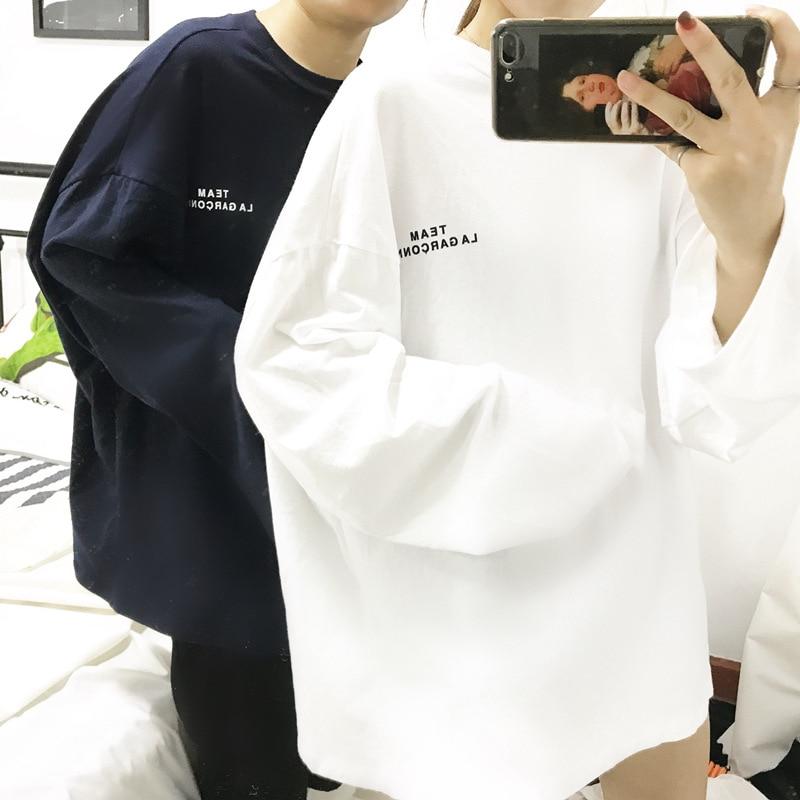 Full Sleeve T-Shirts Summer Fashion Women long section