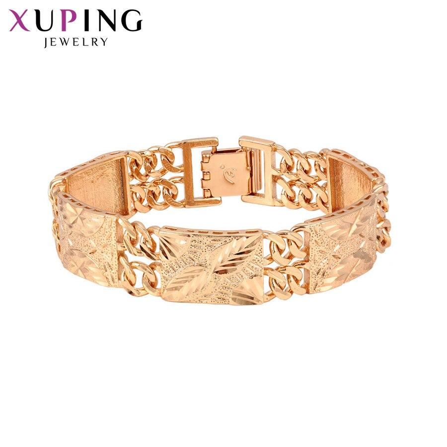 Xuping חדש עיצוב אופנה צמידי קסם סגנון צמידים לנשים חיקוי תכשיטי הודיה מתנות S84-75194