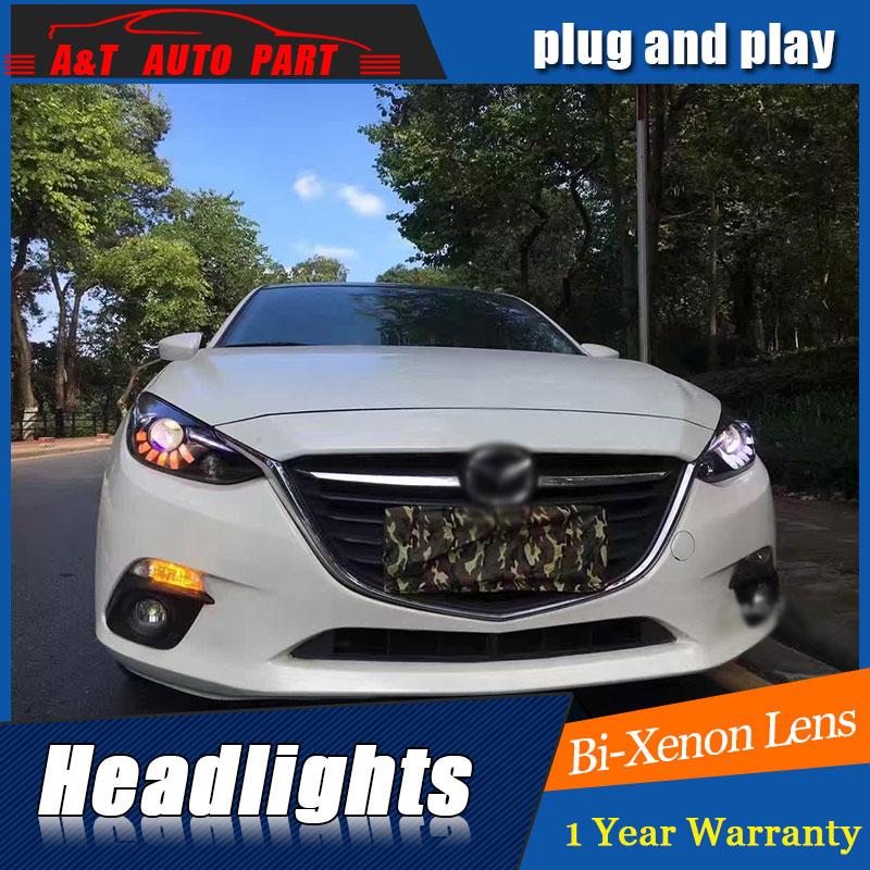 front light Car Styling for 2014 2016 Mazda 3 Axela LED Headlights Mazda 3 Axela LED