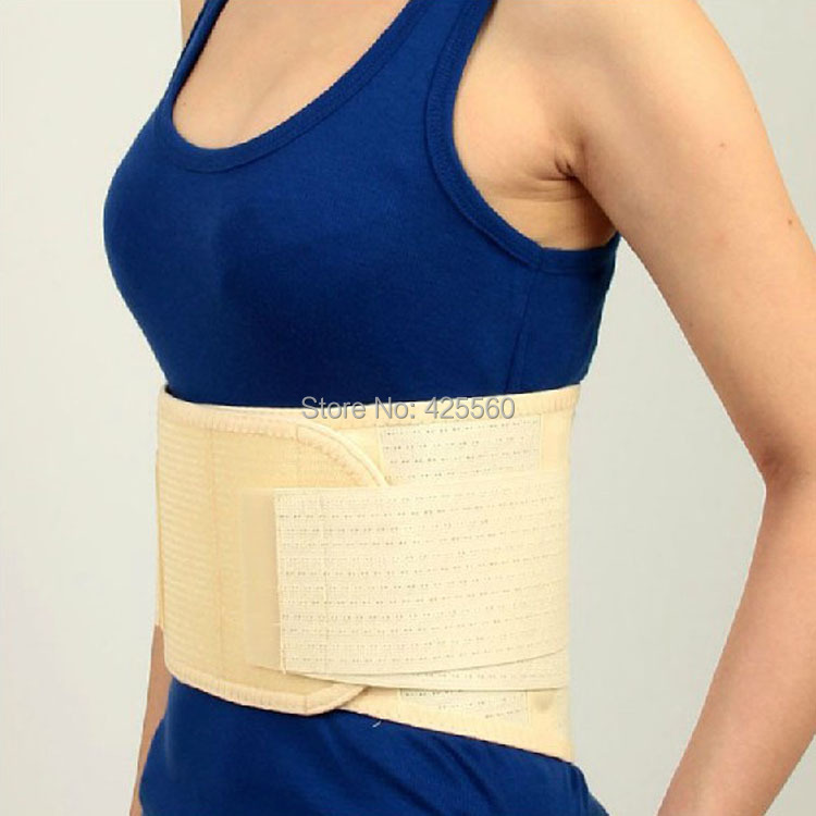 Breathable Medical Waist Support Wrap Brace Belt Lumbar Disc Herniation Psoatic Strain Stainless Steel Rod sport cotton wrist brace wrap support black