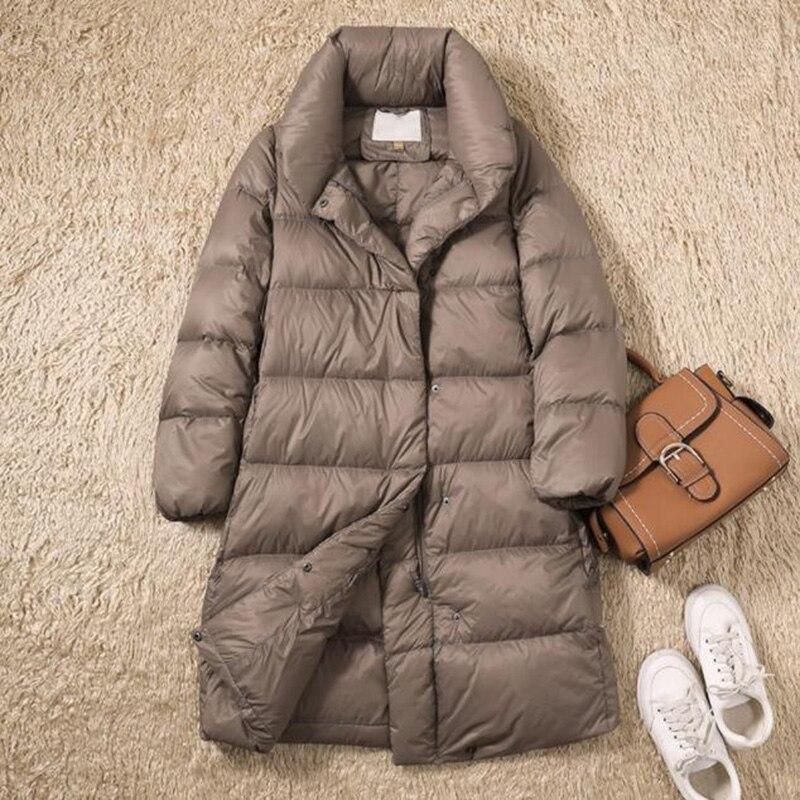 90% White Duck   Down   Jacket Women Thicken Warm Long Winter   Coat   Women Korean Slim Stand collar Female Puffer Jacket