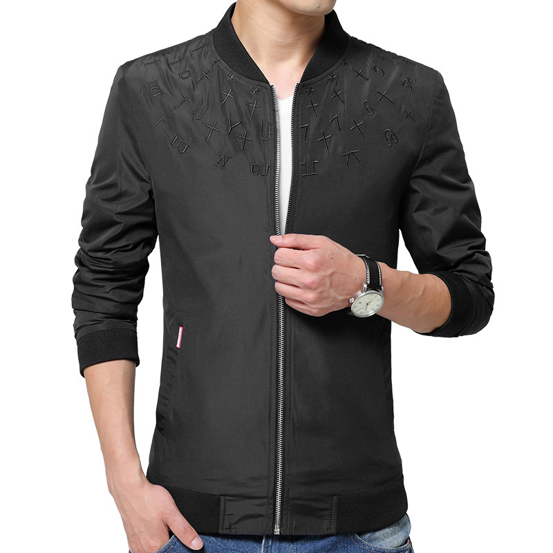 Brand new baseball collar jacket men embroidery fashion in the autumn male <font><b>crime</b></font> leisure jacket trench coat of active men style
