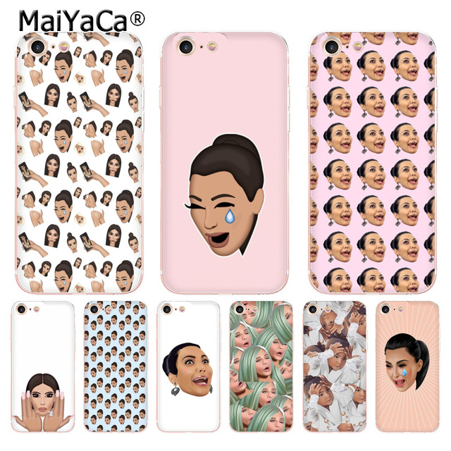 timeless design 35e45 920b3 US $1.24 48% OFF|MaiYaCa Funny Face Kimoji Kim Kardashian New Arrival  Fashion phone case for Apple iPhone 8 7 6 6S Plus X 5 5S SE XR XS XS MAX-in  ...