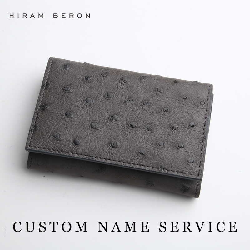 Hiram beron leather business card holder men customized ostrich hiram beron leather business card holder men customized ostrich leather id holders large capacity card wallet short card holders in card id holders from colourmoves