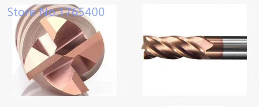 Купить с кэшбэком Brand 1pcs HRC55 4 Flute (Total Length:100mm)  2mm 3mm 4mm 5mm 6mm 8mm 10mm Carbide End Mill Tungsten Steel  Milling cutter