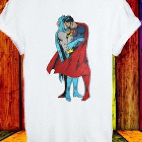 2019 Fashion Hot Batman Superman Kiss Gay Pride LGBT Justice League Men Women Unisex T-shirt 222 Tee shirt Pakistan