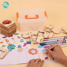 Логвуд 100 печатная плата школа краски инструменты развивающие книги по раскрашиванию учиться рисовать доска для рисования деревянная игрушка