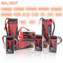 4S RC Lipo Battery 14.8V 1300 1500 4000 5200 6000 6200 mAh 100C 50C 75C For RC Aircraft Drone Car Boat 2S Battery LiPo