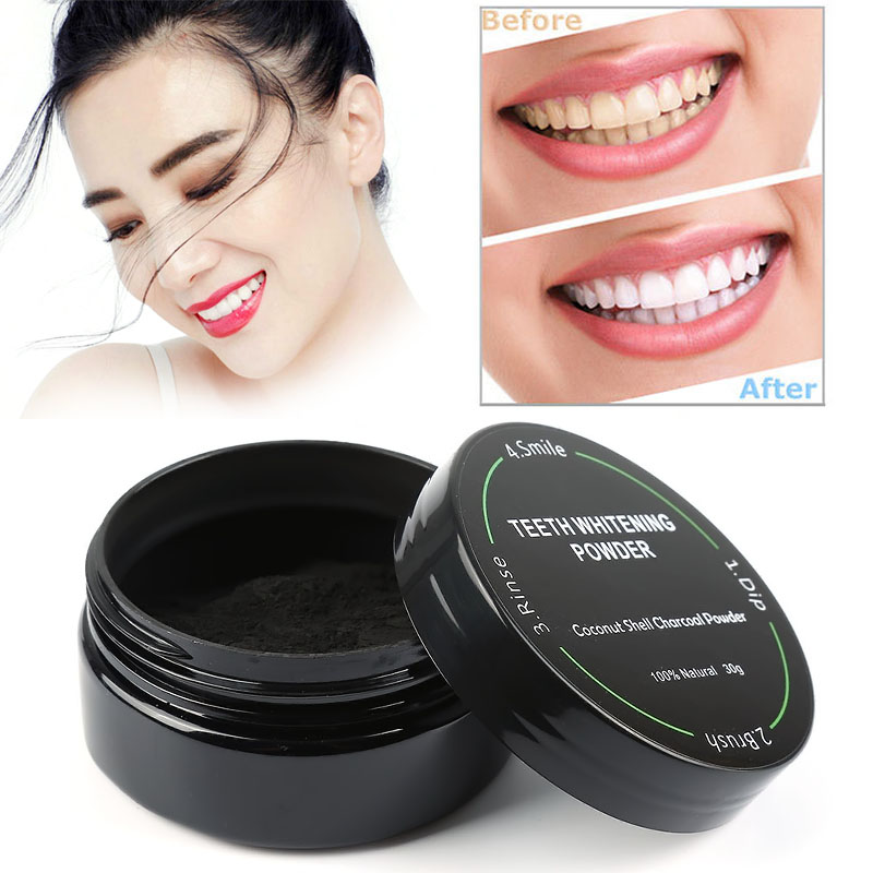New Arrivals Teeth Whitening Powder Natural Organic Activated Charcoal Daily Use Smoke Coffee Tea Stains smoking Removal Tools