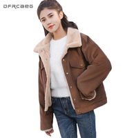 New 2018 Spring Winter Warm Jacket Womens Faux Rabbit Fur Collar Wool Liner Coat Thicken Jaqueta