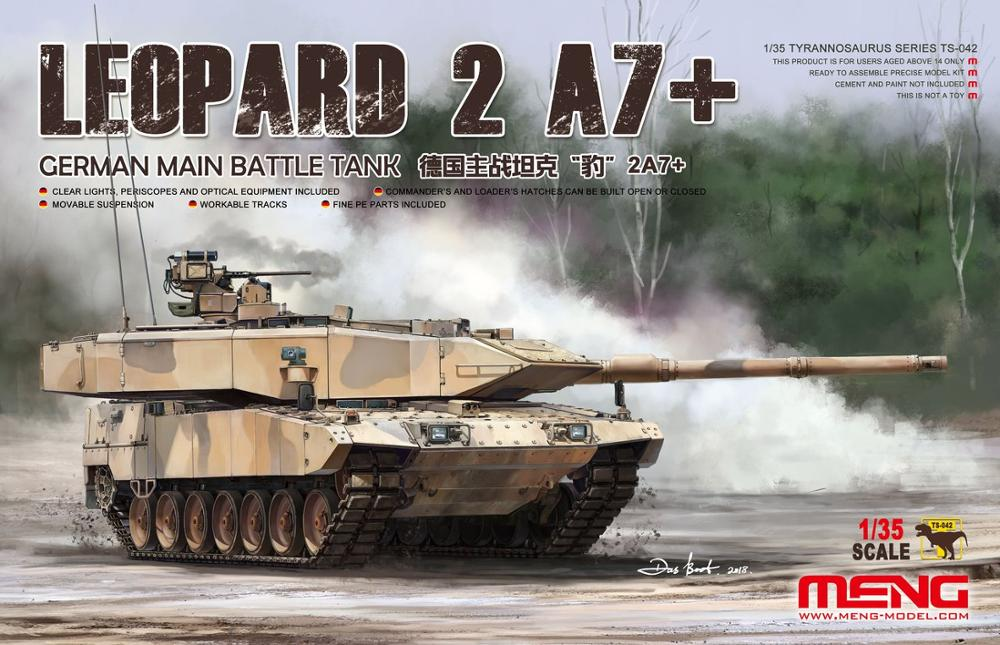 Meng TS-042 1/35 German Main Battle Tank Leopard 2 A7 Scale