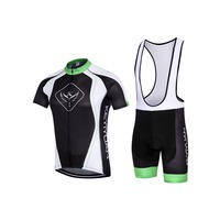 KEYIYUAN Men Road Racing Wear Cycling Jersey + Riding Padded (Bib) Shorts Black