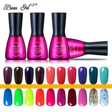 Beau Gel Beauty Nail Gel Polish 7ml/pc Gelplish Manicure Soak Off UV LED Nails Gel Professional Vernis Semi Permanent Polish