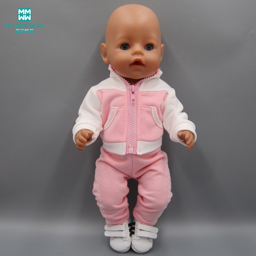 Detail Feedback Questions about Clothes for dolls fits 43cm Baby Born zapf  doll accessories pink casual sports suit on Aliexpress.com  a29a1ffde2c5