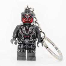 Wholesale Ultron Super Hero Handmade Minifigures Key Chain Key Ring DIY Customize Keychains Building Blocks Toys Gift Children