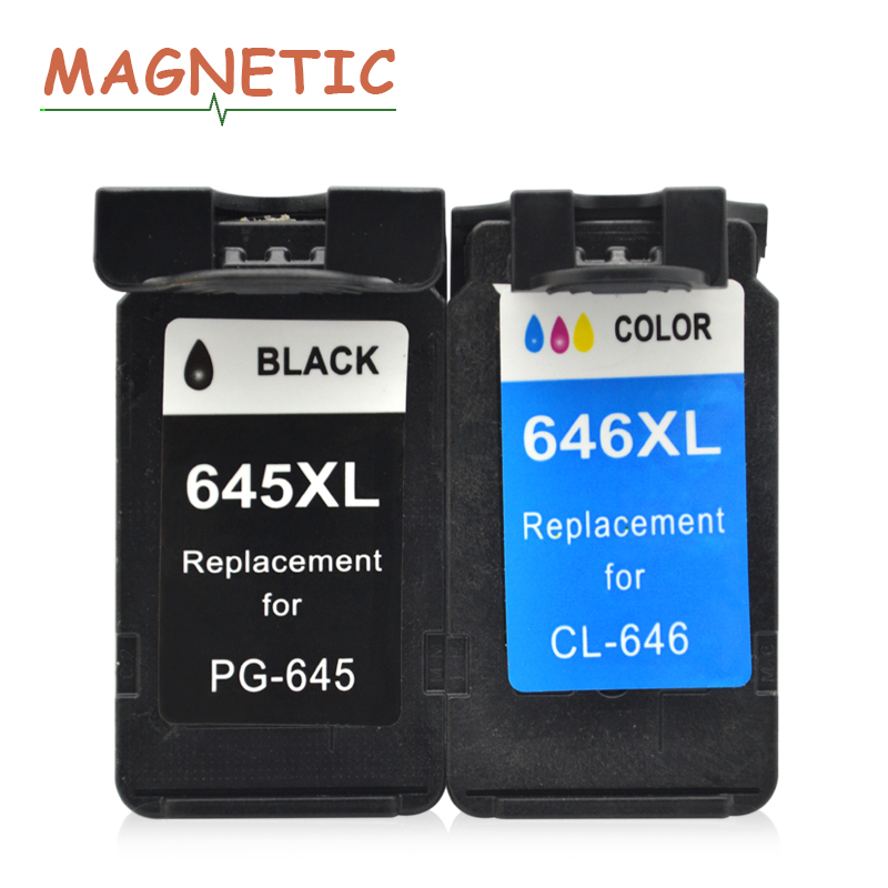 2Pk PG645 PG 645 PG-645 CL-646 CL646 CL 646 Compatible Ink Cartridges For Canon Pixma MG2460 MG2560 MG2960 MG2965 MG 2460 image